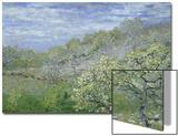 Arbres En Fleurs Print by Claude Monet
