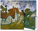 Street in Auvers (Les Toits Rouges), c.1890 Posters by Vincent van Gogh