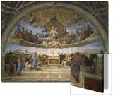 The Disputation of the Holy Sacrament, from the Stanza Della Segnatura, 1509-10 Kunstdruck von  Raphael