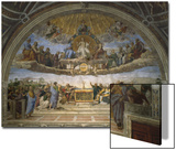 The Disputation of the Holy Sacrament, from the Stanza Della Segnatura, 1509-10 Print by  Raphael