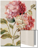 Harmonious Hydrangeas Linen Poster by Lisa Audit
