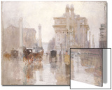 After the Rain, the Dewey Arch, Madison Square Park, New York Prints by Paul Cornoyer