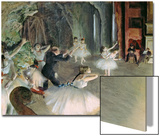 The Rehearsal of the Ballet on Stage, circa 1878-79 Prints by Edgar Degas