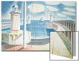 Newhaven Harbour Poster by Eric Ravilious