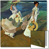 Walk on the Beach, 1909 Posters by Joaquín Sorolla y Bastida