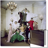 Models Posing in New Christian Dior Collection Poster by Loomis Dean