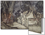 The Meeting of Oberon and Titania, 1908 Print by Arthur Rackham