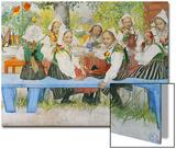 Kersti's Birthday, 1909 Prints by Carl Larsson