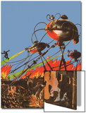 Sci Fi - War of the Worlds, 1927 Print by Frank R. Paul