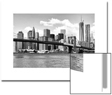 Skyline of NYC with One World Trade Center and East River, Manhattan and Brooklyn Bridge Prints by Philippe Hugonnard