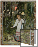 """Vassilissa in the Forest, Illustration from the Russian Folk Tale, """"The Very Beautiful Vassilissa"""" Posters by Ivan Bilibin"""