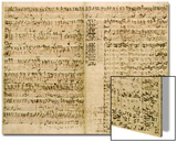 Pages from Score of the 'The Art of the Fugue', 1740S Art by Johann Sebastian Bach