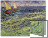Seascape at Saintes-Maries, c.1888 Posters by Vincent van Gogh
