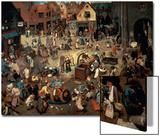 Fight Between Carnival and Lent, 1559 Kunst von Pieter Bruegel the Elder