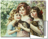 The Three Graces Art by Emile Vernon
