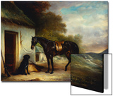 Mr Stuart's Favourite Hunter, Vagabond and His Flatcoated Retriever, Nell by a Cottage Door Pósters por Sr, John Ferneley