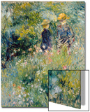 Conversation in a Rose Garden Poster by Pierre-Auguste Renoir