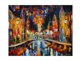 The Town Bridge Fotografisk trykk av Leonid Afremov