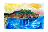 Picturesque Portofino Harbour in Ligure Italy Photographic Print by Markus Bleichner