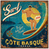 Surf Côte Basque Prints by Bruno Pozzo
