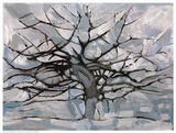 Grey Tree Abstract Prints by  Dorvard