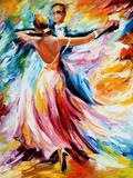 Dance Waltz Fotoprint van Leonid Afremov