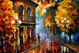 Fall Rain Fotoprint van Leonid Afremov