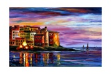 Italy Liguria Photographic Print by Leonid Afremov
