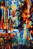 Night Broadway Schilderij van Leonid Afremov