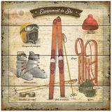 Équipement de ski Posters by Bruno Pozzo