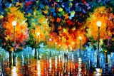 Storm Of Happiness Print by Leonid Afremov