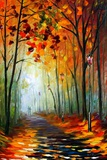Fog Alley Photographic Print by Leonid Afremov