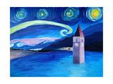 Starry Night in Switzerland Vierwaldstaetter Prints by Martina Bleichner