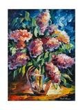 Blomster Plakat av Leonid Afremov