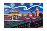 Starry Night in Dresden with Zwinger and Van Gogh Print by Martina Bleichner