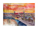 Munich City Center View From St Peter Photographic Print by Markus Bleichner