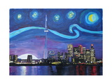 Starry Night in Toronto Ontario Canada Photographic Print by Martina Bleichner