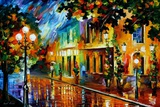 Night Flowers Fotografisk trykk av Leonid Afremov