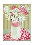 White Chrysanthemums and Spray, 2008 Impression giclée par Joan Thewsey