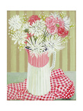 White Chrysanthemums and Spray, 2008 Giclee Print by Joan Thewsey
