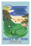 Discover France by Train - The Basque Coast - French National Railways Lámina giclée por Bernard Villemot