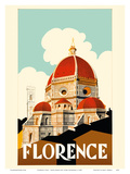 Florence Italy - Santa Maria del Fiore Cathedral, the Duomo of Florence Posters by  Pacifica Island Art