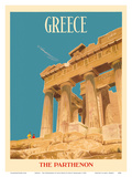 Greece - The Parthenon - Temple of Athena Poster by  Dick Negus & Philip Sharland