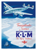 KLM Transatlantic Service - Holland America - KLM Royal Dutch Airlines Prints by Paulus C. Erkelens