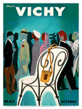 Vichy, France - Resorts and Spas - May through October (Mai-Octobre) Art by Bernard Villemot