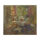 Kitchen Table, Provence Giclee Print by Susan Ryder