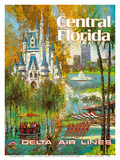 Central Florida - Orlando - Walt Disney World Resort - Delta Air Lines Prints by Jack Laycox