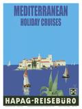 Mediterranean Holiday Cruises - Hamburg-Amerika Linie (Hamburg-American Line) HAPAG - Reisebüro Prints by Albert Fuss