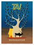 Madagascar - TAI (Transports Aériens Intercontinentaux) Poster af F. Lesourt