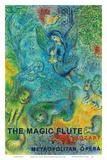 The Magic Flute - Mozart - Metropolitan Opera Prints by Marc Chagall